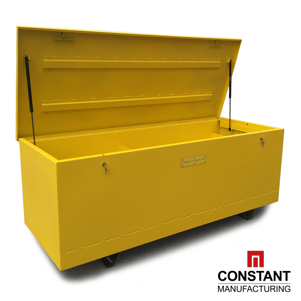 Project Snapshot: Custom canary yellow XL secure storage chest - Constant Manufacturing
