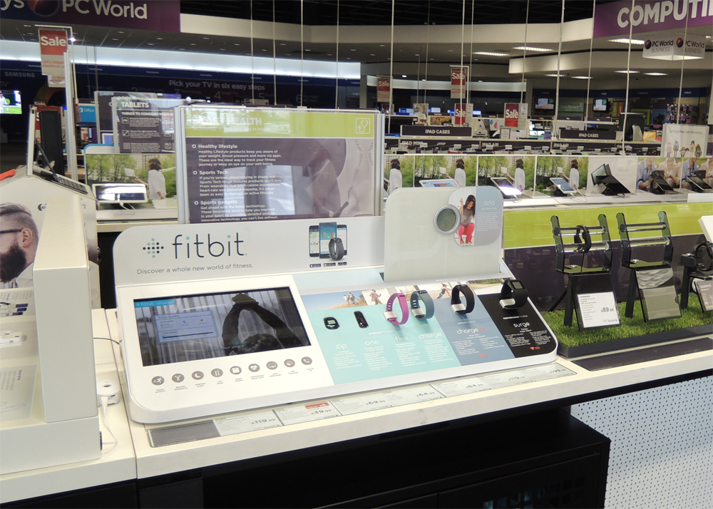 Fitbit POS Display Currys
