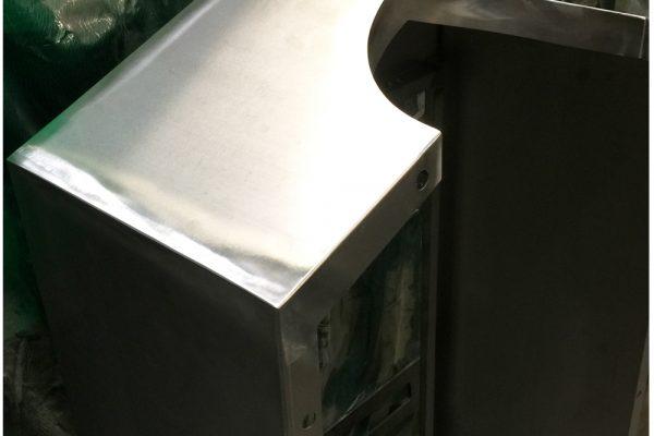 Polishing Metal Telecoms Cabinets