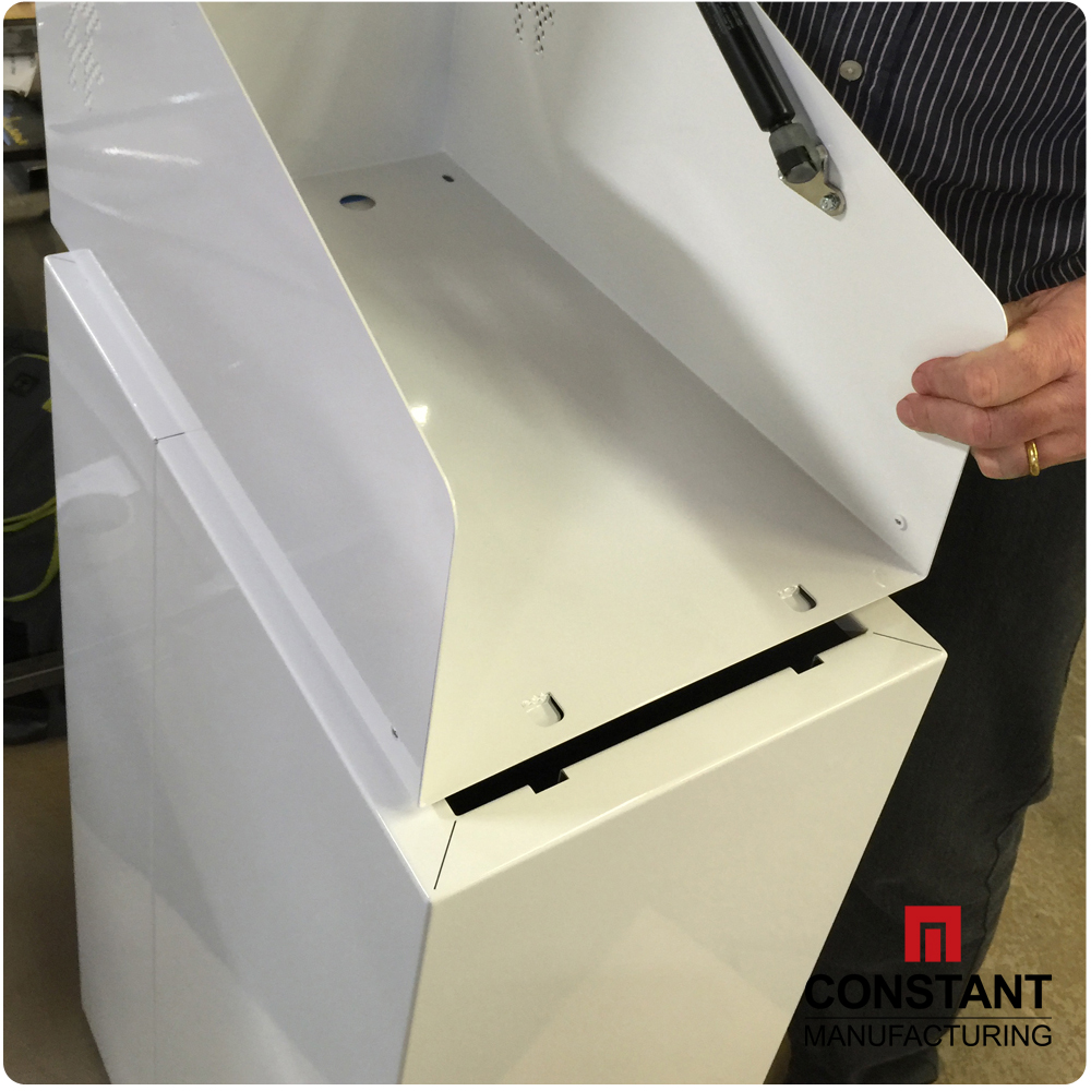 How it's Made: IoT Integrated & Interactive Display Unit - Then the top section is fitted to the base plinth.
