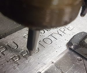 Metal bracket engraving