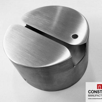 Roller bent, welded and polished card reader casing