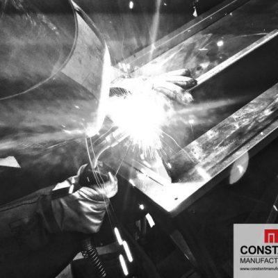 Box frame section welding