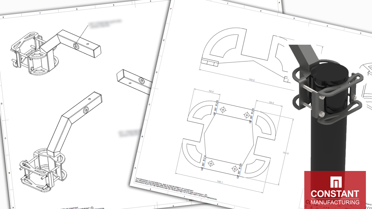 Step One – 3D Render, Testing and CAD Drawings