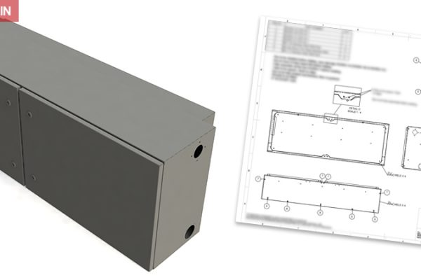 Concept design for metal food production cabinet - Case Study