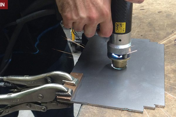 Stud welding with guides - Case Study