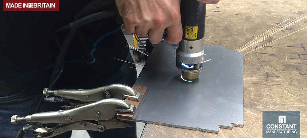 Stud Welding with Guides - Machine Electrical Cabinet