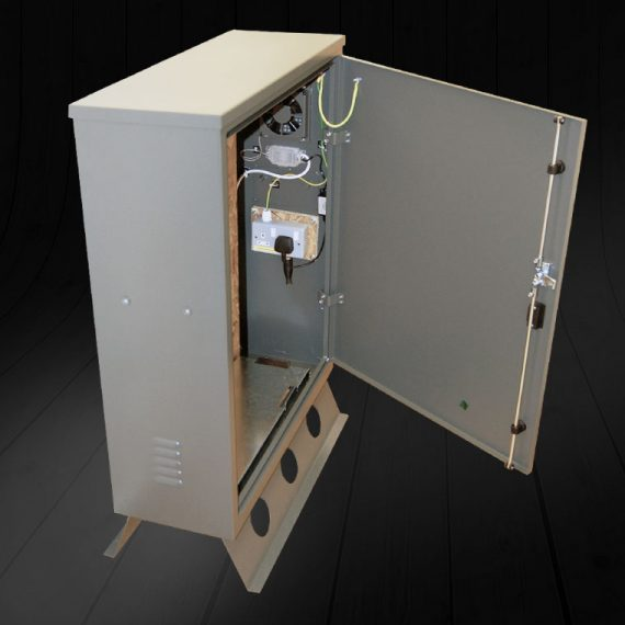Communications metal cabinet