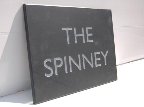 Engraved signage
