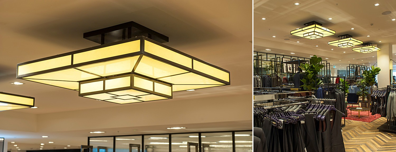 Art Deco effect retail lighting