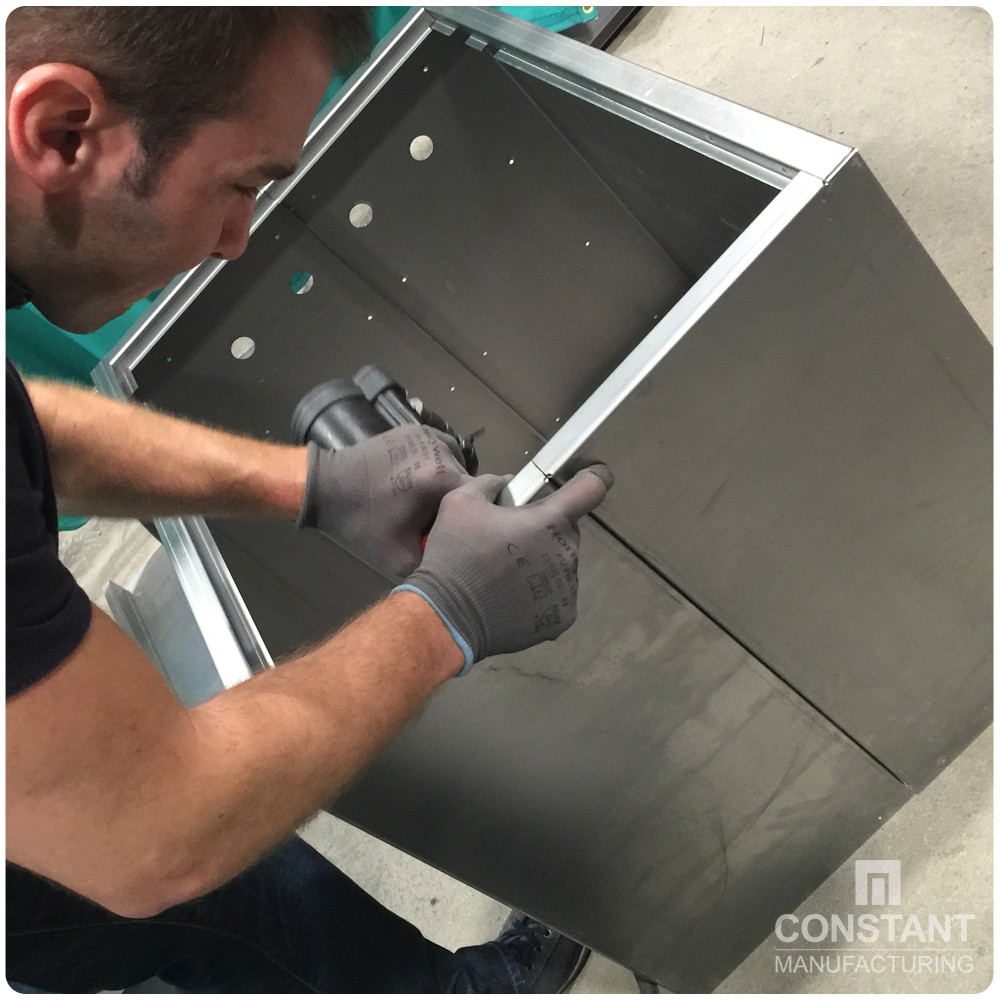 Case study: Large Security Cabinet And Safe - Riveting