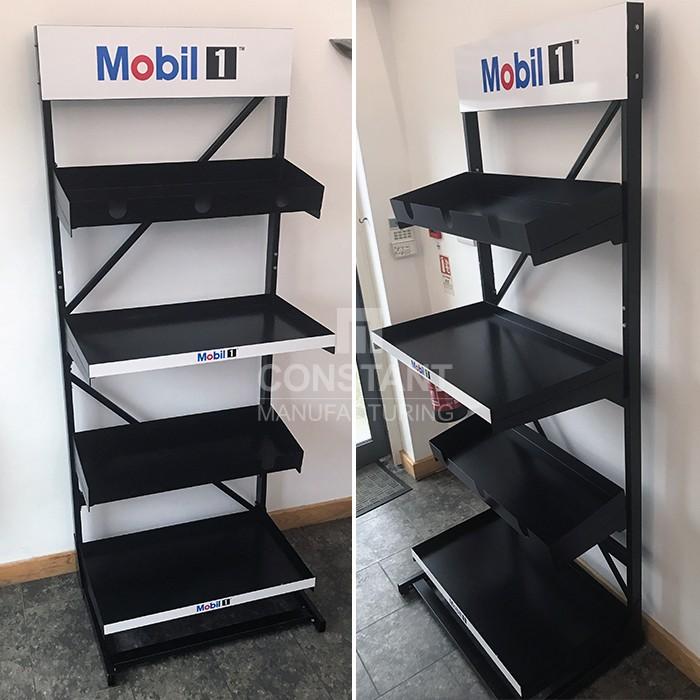 Mobil Oil Shelf Racking