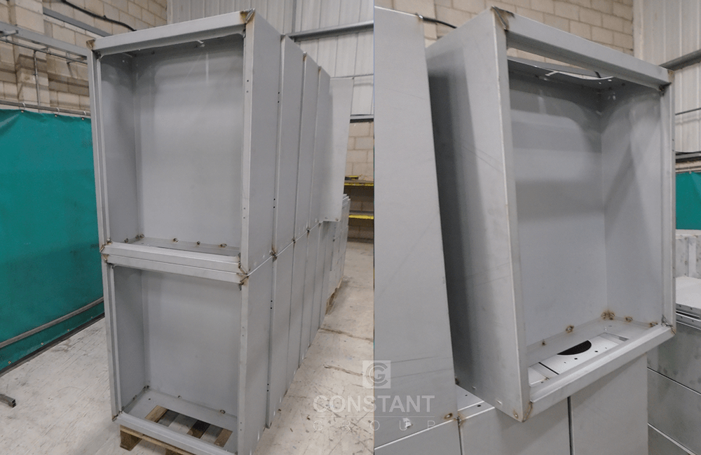 Metal communications cabinet