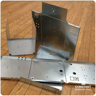 Parts created with Radan, cut on the TruPunch 3000 with the aid of the SheetMaster