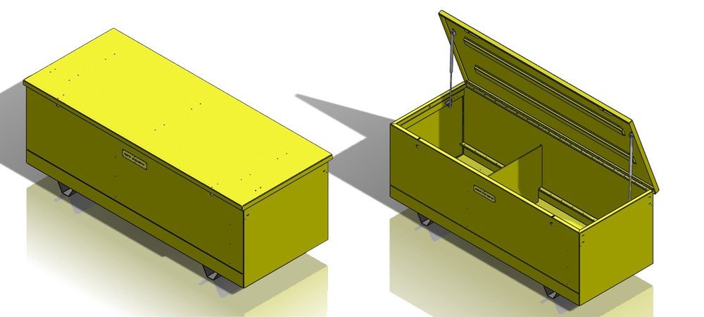 Project Snapshot: Custom canary yellow XL secure storage chest