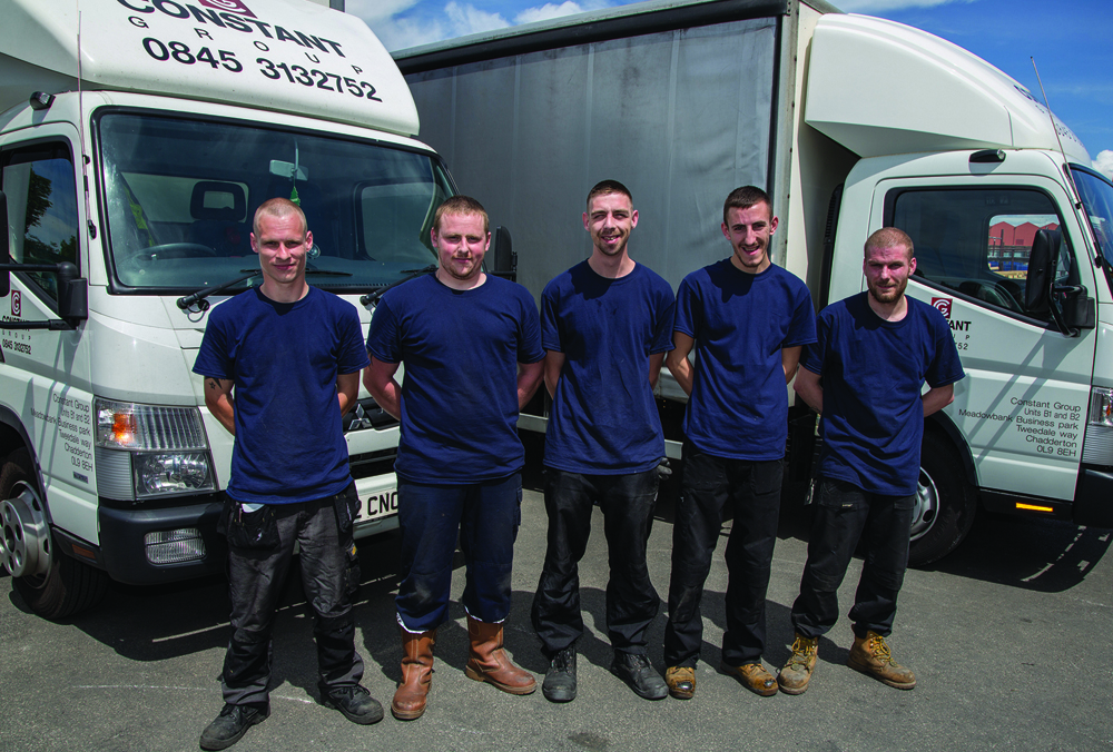 Constant Manufacturing's newest recruits - Shane, Peter, Michael, Liam and Anthony