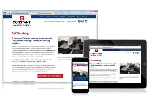 Constant's responsive designed website portfolio