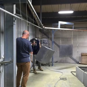 Powder Coating Department - Cleaning