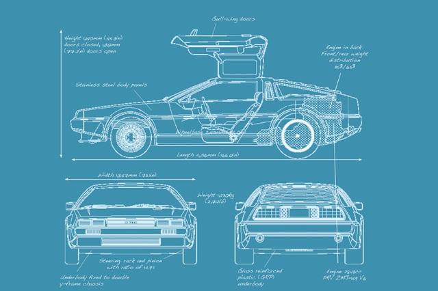 DeLorean BluePrint