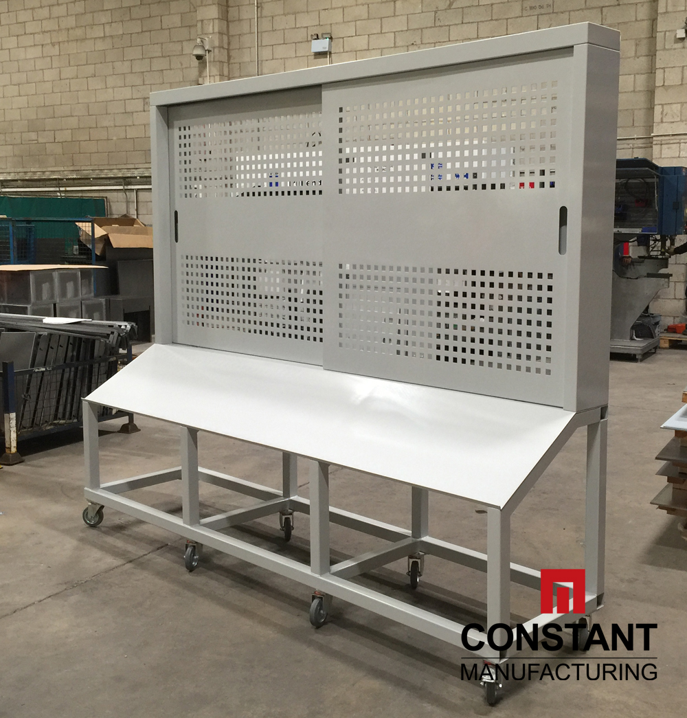 Large metal tool board cabinet