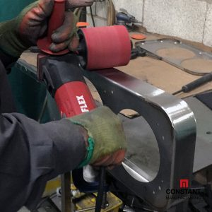 Sanding: Metal LED Train Light Unit