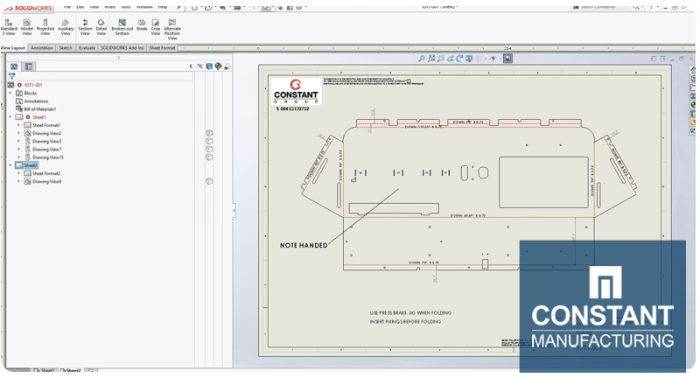 Solidworks Flat Drawing Renders