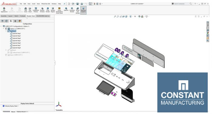 Exploded View in SolidWorks 3D Tool