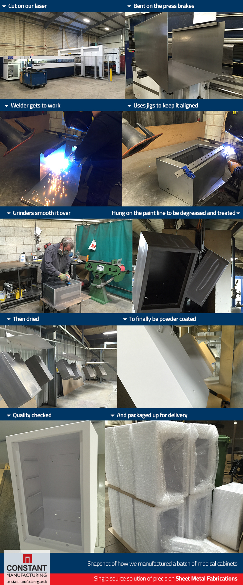 Medical Metal Cabinets in the Factory