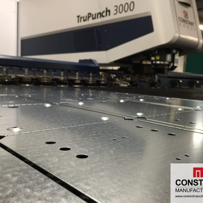 SheetMaster and TruPunch 3000 used to create box parts