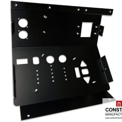Electronic ballasts with inserted fasteners