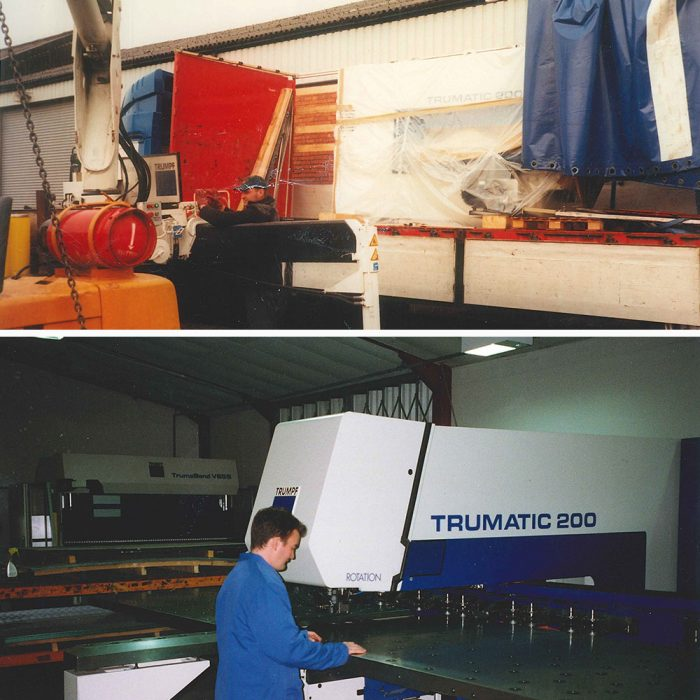 Trumatic 200 being delivered