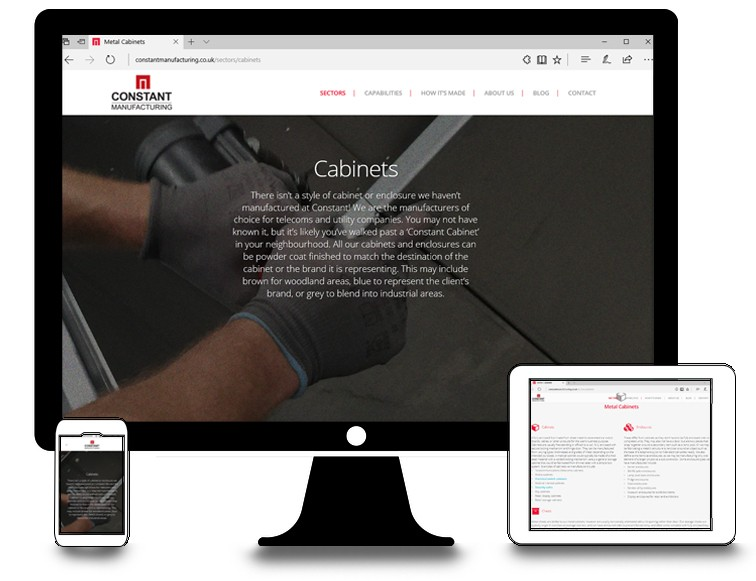New Constant Manufacturing Website