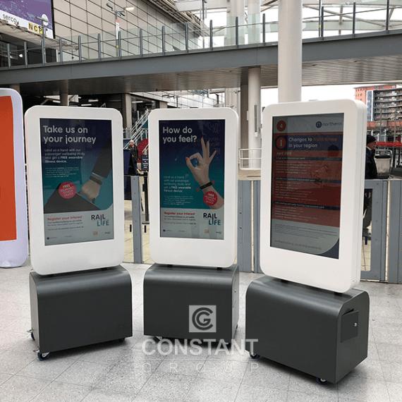 Mobile Totem Retail Display