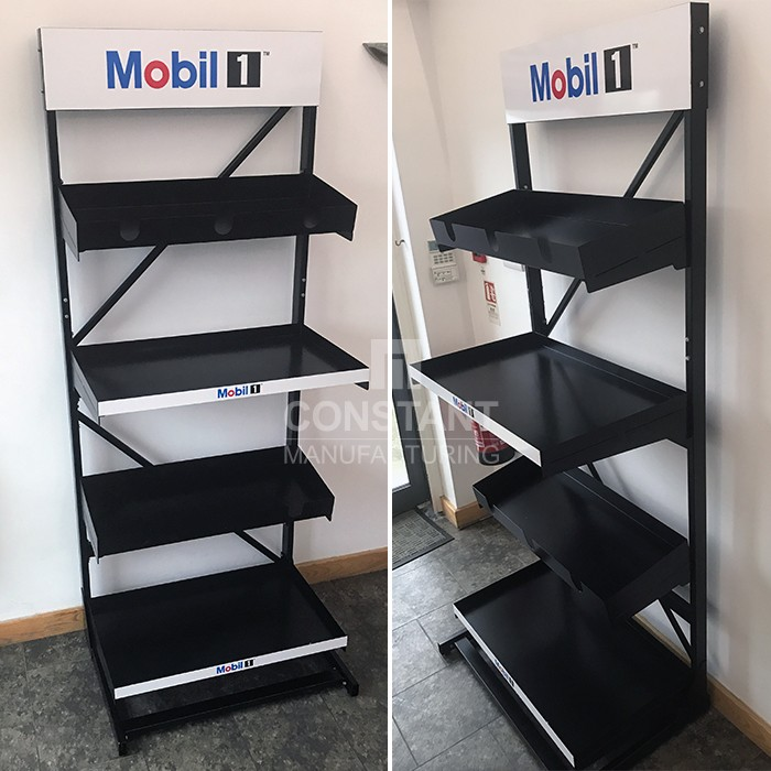 Mobil Oil Shelf Racking