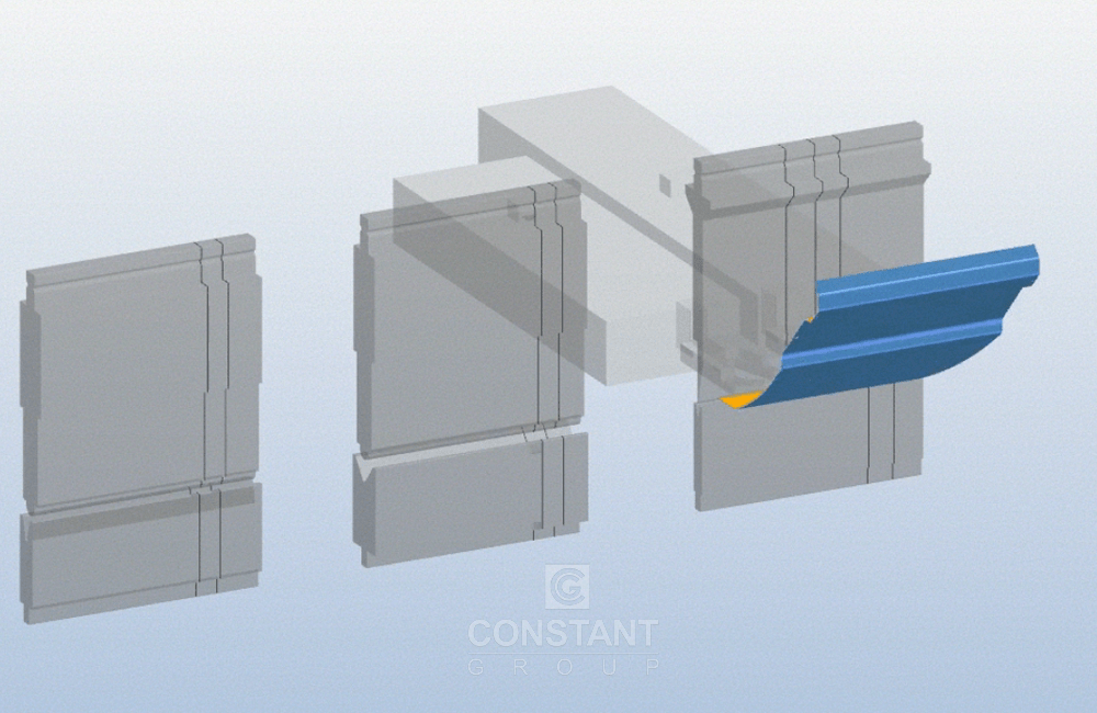 Visualisation of Bending the Machine Panel Part