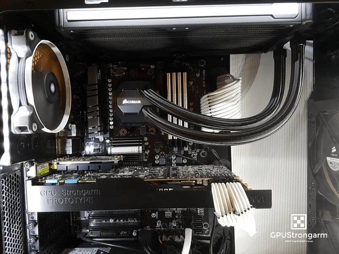 Manufactured Strongarm CPU Braket inside PC
