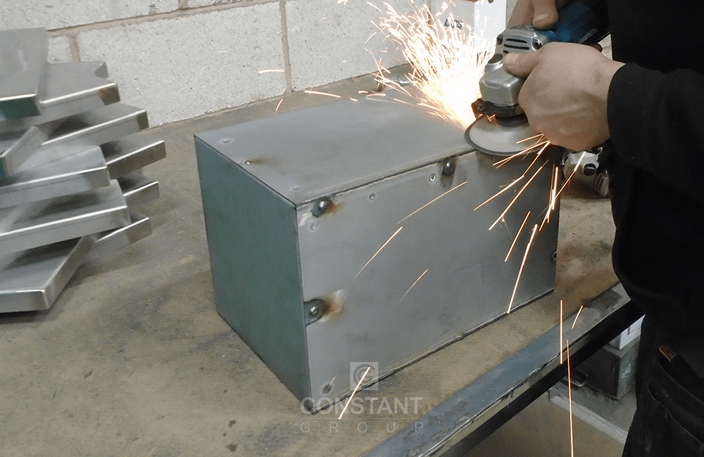 Manufacturing Case Study - Magnet Display - Grinding