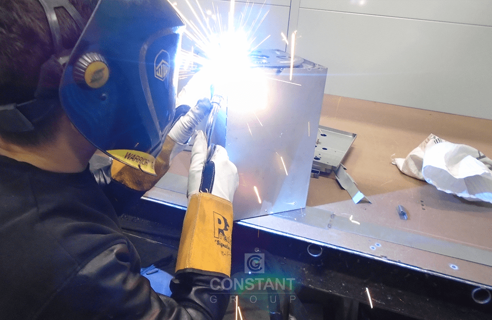 Manufacturing Case Study - Magnet Display - Welding Stage