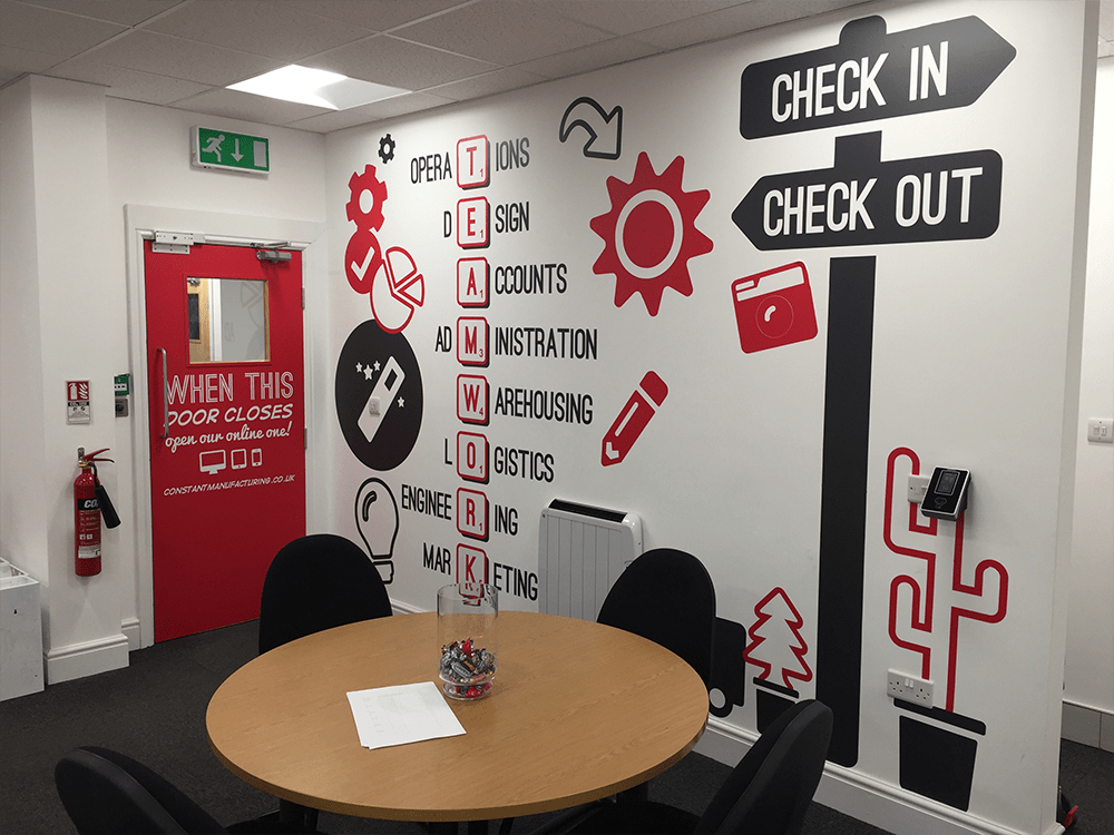 Reception Wall Graphics