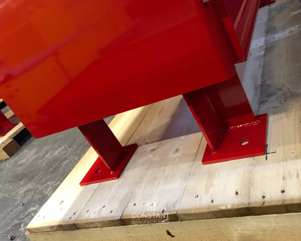 Forklift safe high-rise metal cabinet feet